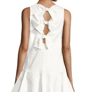 ALEXIS *Alexia* white cotton flounce bow dress M